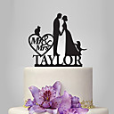 cheap Cake Toppers-Cake Topper Garden Theme / Classic Theme / Fairytale Theme Classic Couple Acrylic Wedding / Anniversary / Bridal Shower with OPP