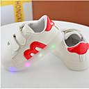 baratos Luzes de Seta para Veículos-Para Meninas Sapatos Couro Ecológico Primavera / Outono Conforto Rasos para Preto / Vermelho