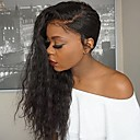 cheap Bed Pillows-Unprocessed Human Hair Glueless Lace Front Wig Brazilian Hair / Water Wave Wig 130% Natural Hairline / African American Wig Women's Long Human Hair Lace Wig