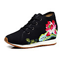 cheap Women's Sneakers-Women's Shoes Canvas Summer / Fall Comfort / Novelty / Embroidered Shoes Oxfords Walking Shoes Flat Heel / Chunky Heel Round Toe Buckle /