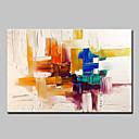 abordables Cuadros de Animales-Pintura al óleo pintada a colgar Pintada a mano - Abstracto Estilo europeo Modern Lona