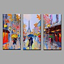 cheap Oil Paintings-Oil Painting Hand Painted - Landscape European Style Modern Canvas