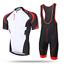 cheap Cycling Jersey & Shorts / Pants Sets-XINTOWN Men's Short Sleeve Cycling Jersey with Bib Shorts - Yellow Red / White Animal Bike Jersey Bib Tights Breathable 3D Pad Quick Dry Reflective Strips Sweat-wicking Sports Elastane Animal