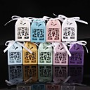 cheap Favor Holders-Cuboid Pearl Paper Favor Holder with Ribbons Favor Boxes - 50
