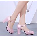 olcso Női magassarkú cipők-Női Cipő PU Nyár Hátsó pántos Magassarkúak Vaskosabb sarok Fehér / Fekete / Rózsaszín