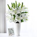 זול פאות לוליטה-פרחים מלאכותיים 1 ענף פסטורלי סגנון חבצלות פרחים לשולחן