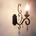 tanie Nowoczesne oświetlenie-Nowoczesny / współczesny / Tradycyjny / Classic Lampy ścienne Metal Światło ścienne 110-120V / 220-240V 45 W / E14 / E12