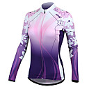 cheap Cycling Jersey & Shorts / Pants Sets-SANTIC Women's Long Sleeve Cycling Jersey - Purple Floral / Botanical Bike Jersey / Jacket, Thermal / Warm, Quick Dry, Ultraviolet