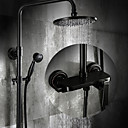 cheap Shower Faucets-Shower Faucet - Antique Oil-rubbed Bronze Centerset Ceramic Valve