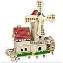 preiswerte Modelle & Modell Kits-3D - Puzzle Steckpuzzles Modellbausätze Berühmte Gebäude Chinesische Architektur Spaß Holz Klassisch Kinder Unisex Spielzeuge Geschenk