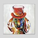 baratos Glitter para Unhas-Pintura a Óleo Pintados à mão - Animais Clássico Modern Tela de pintura