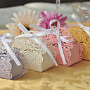 cheap Favor Holders-Creative Pearl Paper Favor Holder with Ribbon Tie Favor Boxes - 100