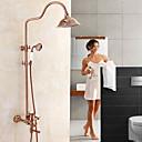 رخيصةأون حنفيات مغاسل الحمام-حنفية دش - زهري ذهبي وردي في وسط صمام سيراميكي