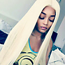 cheap Human Hair Wigs-Human Hair Glueless Lace Front Lace Front Wig Straight Wig 130% Hair Density Natural Hairline African American Wig 100% Hand Tied Women's Short Medium Length Long Human Hair Lace Wig
