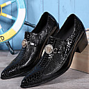 cheap Men's Boots-Men's Shoes Nappa Leather Spring / Fall Formal Shoes Oxfords Black / Party & Evening
