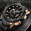 cheap Mice-NAVIFORCE Men's Sport Watch Military Watch Wrist Watch Japanese Quartz 30 m Water Resistant / Water Proof Calendar / date / day Creative Stainless Steel Band Analog-Digital Charm Luxury Vintage Black