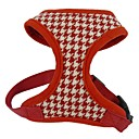 cheap Dog Clothes-Cat Dog Harness Adjustable / Retractable Breathable Plaid/Check Geometic Textile Fabric Black Red