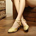 povoljno Obuća za dvoranski ples i moderne plesove-Žene Plesne cipele Sitne šljokice / Umjetna koža Moderna obuća Isprepleteni dijelovi Štikle Potpetica po mjeri Moguće personalizirati Srebro / Crvena / Plava