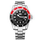 preiswerte Mechanische Uhren-WINNER Herrn Kleideruhr Armbanduhr Mechanische Uhr Automatikaufzug Silber Kalender leuchtend Analog Luxus - Weiß Schwarz