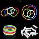 Folie af papir-LED-belysning Lyser i mørket Lysrør Selvlysende i mørke Plast Drenge Pige Legetøj Gave 100 pcs