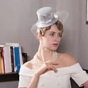 cheap Party Headpieces-Tulle / Flax Fascinators / Hats / Birdcage Veils with 1 Wedding / Special Occasion / Casual Headpiece