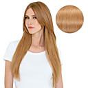 abordables Extensiones de Cabello con Adhesivo-Con Clip Extensiones de cabello humano Recto Extensiones Naturales Cabello humano Mujer