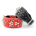 preiswerte Sensoren-Hund Halsbänder Regolabile / Einziehbar Beschlagen Niete Solide Echtleder Schwarz Rot