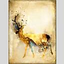 baratos Pinturas Animais-Pintura a Óleo Pintados à mão - Animais Clássico Modern Tela de pintura