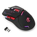 ieftine mouse keyboard combo-HXSJ 2.4G fără fir mouse-ul pentru jocuri Optic 6 pcs chei Lumină LED 4 niveluri DPI reglabile 2400 dpi