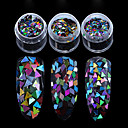 cheap Nail Glitter-1 pcs Nail Art Design Glitters / Classic Daily