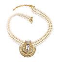 baratos Anéis-Mulheres Cristal Strands Necklace - Personalizada, Original, Fashion Dourado Colar Para Casamento, Festa, Parabéns