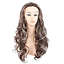 cheap Synthetic Capless Wigs-Synthetic Wig Curly Asymmetrical Haircut Synthetic Hair Natural Hairline Brown Wig Women's Medium Length / Long Capless