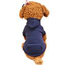 baratos Roupas para Cães-Cachorro Camisola com Capuz Roupas para Cães Sólido Fúcsia Café Vermelho Verde Rosa claro Algodão Ocasiões Especiais Para animais de