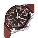 preiswerte Militäruhr-NAVIFORCE Herrn Sportuhr / Armbanduhr Kalender / Cool PU Band Luxus / Freizeit / Modisch Schwarz / Braun / Zwei jahr / Maxell SR626SW