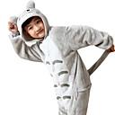 cheap Kigurumi Pajamas-Kid's Kigurumi Pajamas Anime Totoro Onesie Pajamas Flannel Toison Gray Cosplay For Boys and Girls Animal Sleepwear Cartoon Halloween Festival / Holiday
