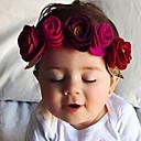 baratos Infantil Tiaras-Unisexo Acessórios de Cabelo Todas as Estações Algodão Fibra Sintética Azul Vermelho Rosa Fúcsia Vinho
