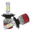 رخيصةأون مصابيح الإضاءة النهاؤية-H4 سيارة لمبات الضوء COB LED مصباح الرأس / ضوء الضباب