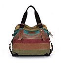 cheap Shoulder Bags-Women's Bags Canvas Shoulder Bag Ruffles Rainbow