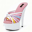 cheap Women's Heels-Women's Shoes Leatherette Summer / Fall Club Shoes Heels Stiletto Heel White / Wedding / Party & Evening