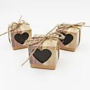 baratos Suporte para Lembrancinhas-Cúbico Papel de Cartão Suportes para Lembrancinhas com Design Coração Estampado Caixas de Ofertas
