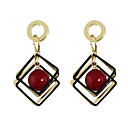 baratos Luminárias de Teto-Mulheres Brincos Compridos - Básico, Estilo bonito Branco / Vermelho Para Diário / Casual