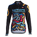 cheap Cycling Jerseys-Fastcute Men's Women's Long Sleeves Cycling Jersey Bike Jersey, Quick Dry, Breathable, Sweat-wicking, Reflective Strips