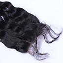 זול פיאות סינטטיות ללא כיסוי-שיער ברזיאלי 4x4 סגר גלי משוחרר חלק חינם / חלק התיכון / 3 חלק תחרה שווייצרית שיער אנושי