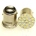 זול תאורת אופנוע-SENCART BAY15D(1157) / H5 / BAY15D(1173) אופנוע / מכונית נורות תאורה 1-2W SMD 3014 120-180lm אור אחורי