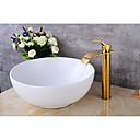 halpa Kylpyhuoneen lavuaarihanat-Nykyaikainen Integroitu Keraaminen venttiili Yksi kahva yksi reikä Kylpyhuone Sink hana