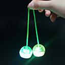 baratos Ioiôs-Iluminação de LED Yoyo Bolas Finger Yo yo Antiestresse Brinquedos Diversão Circular Bola Têxtil silica Gel Plástico Peças Crianças Unisexo