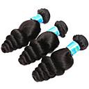 olcso Természetes színű póthajak-3 csomag Brazil haj Laza hullám Szűz haj Az emberi haj sző 8-14 hüvelyk Emberi haj sző Human Hair Extensions