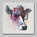 cheap Bakeware-Oil Painting Hand Painted - Animals Abstract Modern / Contemporary Canvas