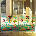 halpa Seinätarrat-Art Deco Nykyaikainen Ikkunatarra, PVC/Vinyl materiaali ikkuna Decoration Ruokailuhuone Makuuhuone Office Kids Room Olohuone Bath Room