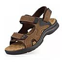 cheap Men's Sandals-Men's PU(Polyurethane) Summer Comfort Sandals Walking Shoes Black / Yellow / Brown